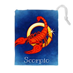 Zodiac Scorpio Drawstring Pouches (extra Large) by Mariart