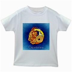 Zodiac Capricorn Kids White T Shirts