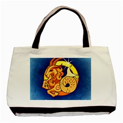 Zodiac Capricorn Basic Tote Bag (two Sides) by Mariart