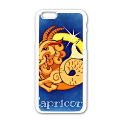 Zodiac Capricorn Apple Iphone 6/6s White Enamel Case by Mariart