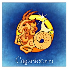 Zodiac Capricorn Large Satin Scarf (square) by Mariart