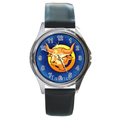 Zodiac Taurus Round Metal Watch by Mariart