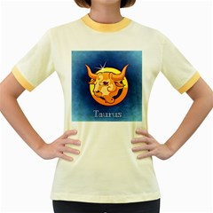 Zodiac Taurus Women s Fitted Ringer T Shirts by Mariart