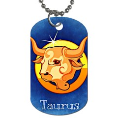 Zodiac Taurus Dog Tag (two Sides) by Mariart