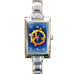 Zodiac Sagittarius Rectangle Italian Charm Watch by Mariart