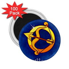 Zodiac Sagittarius 2 25  Magnets (100 Pack)  by Mariart