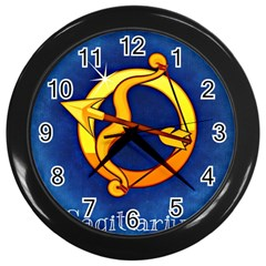 Zodiac Sagittarius Wall Clocks (black) by Mariart
