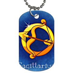 Zodiac Sagittarius Dog Tag (one Side) by Mariart