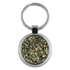 Army Camouflage Key Chains (round)  by Mariart
