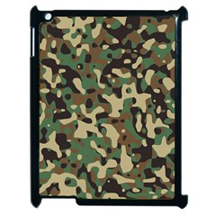 Army Camouflage Apple Ipad 2 Case (black) by Mariart
