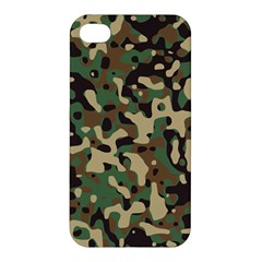 Army Camouflage Apple Iphone 4/4s Hardshell Case by Mariart