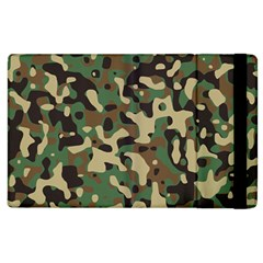 Army Camouflage Apple Ipad 2 Flip Case by Mariart