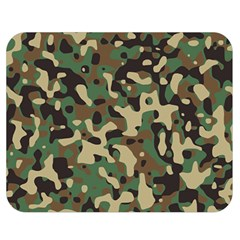 Army Camouflage Double Sided Flano Blanket (medium)  by Mariart