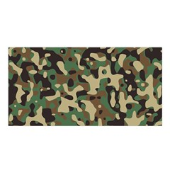 Army Camouflage Satin Shawl by Mariart