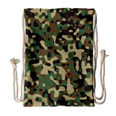 Army Camouflage Drawstring Bag (large) by Mariart