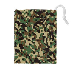 Army Camouflage Drawstring Pouches (extra Large) by Mariart