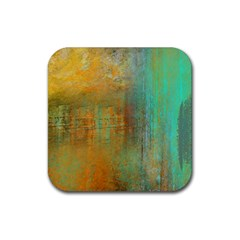The Waterfall Rubber Coaster (square)  by digitaldivadesigns