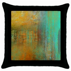 The Waterfall Throw Pillow Case (black) by digitaldivadesigns
