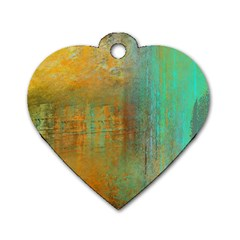 The Waterfall Dog Tag Heart (two Sides) by digitaldivadesigns