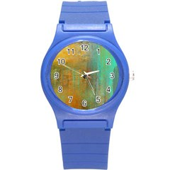 The Waterfall Round Plastic Sport Watch (s) by digitaldivadesigns