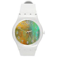 The Waterfall Round Plastic Sport Watch (m) by digitaldivadesigns