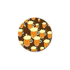 A Fun Cartoon Frothy Beer Tiling Pattern Golf Ball Marker (10 Pack) by Nexatart