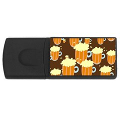 A Fun Cartoon Frothy Beer Tiling Pattern Usb Flash Drive Rectangular (4 Gb) by Nexatart