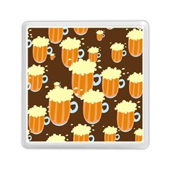 A Fun Cartoon Frothy Beer Tiling Pattern Memory Card Reader (square)  by Nexatart