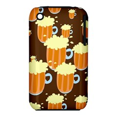 A Fun Cartoon Frothy Beer Tiling Pattern Iphone 3s/3gs by Nexatart