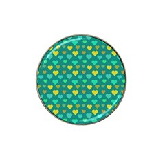 Hearts Seamless Pattern Background Hat Clip Ball Marker (10 Pack)