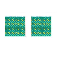 Hearts Seamless Pattern Background Cufflinks (square)