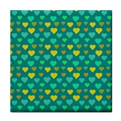 Hearts Seamless Pattern Background Face Towel by Nexatart