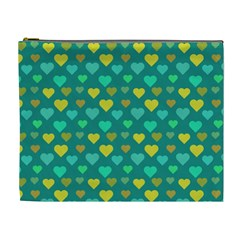 Hearts Seamless Pattern Background Cosmetic Bag (xl) by Nexatart