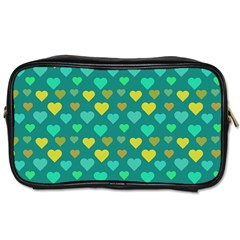 Hearts Seamless Pattern Background Toiletries Bags by Nexatart