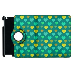 Hearts Seamless Pattern Background Apple Ipad 2 Flip 360 Case by Nexatart