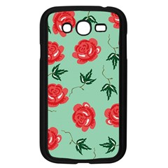 Red Floral Roses Pattern Wallpaper Background Seamless Illustration Samsung Galaxy Grand Duos I9082 Case (black)