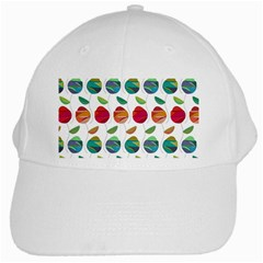 Watercolor Floral Roses Pattern White Cap