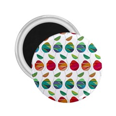 Watercolor Floral Roses Pattern 2.25  Magnets