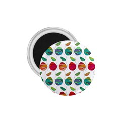 Watercolor Floral Roses Pattern 1.75  Magnets