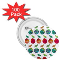 Watercolor Floral Roses Pattern 1.75  Buttons (100 pack)