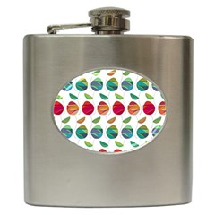 Watercolor Floral Roses Pattern Hip Flask (6 oz)
