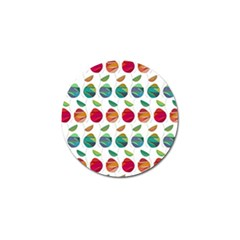 Watercolor Floral Roses Pattern Golf Ball Marker