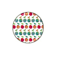 Watercolor Floral Roses Pattern Hat Clip Ball Marker