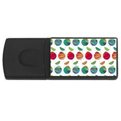 Watercolor Floral Roses Pattern USB Flash Drive Rectangular (4 GB)