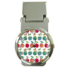 Watercolor Floral Roses Pattern Money Clip Watches