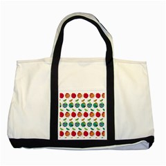Watercolor Floral Roses Pattern Two Tone Tote Bag