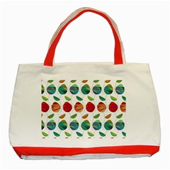 Watercolor Floral Roses Pattern Classic Tote Bag (Red)