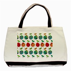 Watercolor Floral Roses Pattern Basic Tote Bag (Two Sides)