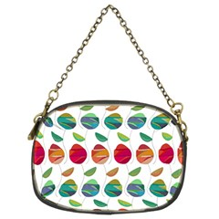 Watercolor Floral Roses Pattern Chain Purses (Two Sides)