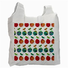 Watercolor Floral Roses Pattern Recycle Bag (Two Side)